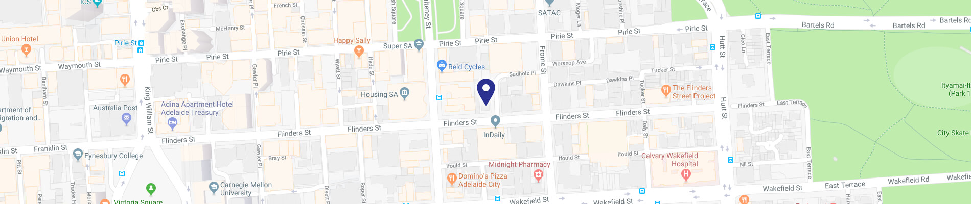Map of 170 Flinders Street, Adelaide 5000