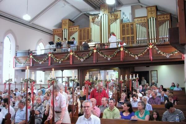 Bethlehem Lutheran Church, Adelaide, at Christmas