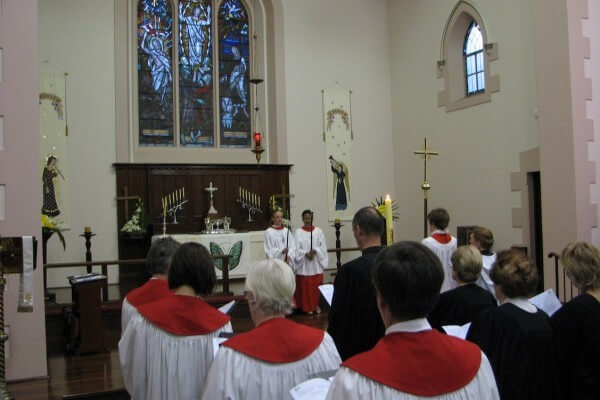 Easter morning worship at Bethlehem Lutheran Church, Adelaide