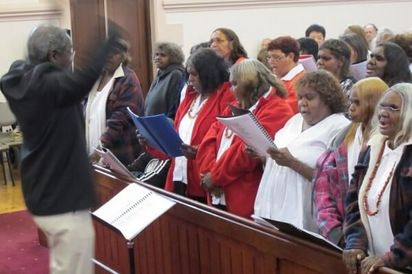 Central Australian Aboriginal Womens Choir visit to Bethlehem Lutheran Church in October 2013.